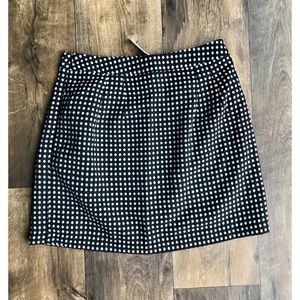 The Limited Black and White Polka Dot Skirt Size 6